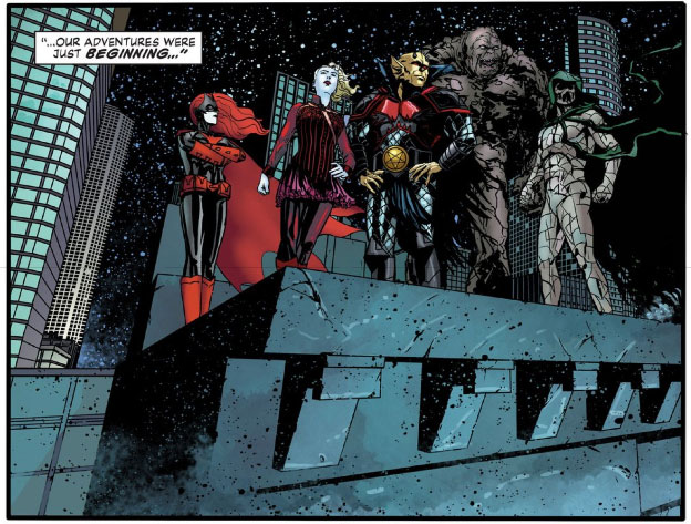 The Unknowns: Batwoman, Red Alice, Etrigan the Demon (AKA Jason Blood), Clayface, and Ragman