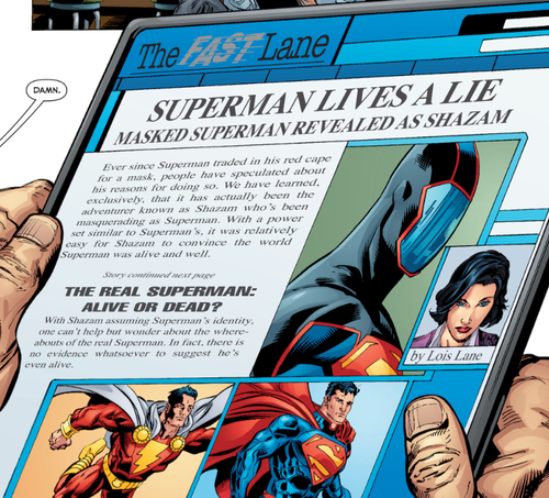 Lois Lane reveals the identity of the Masked Superman.
