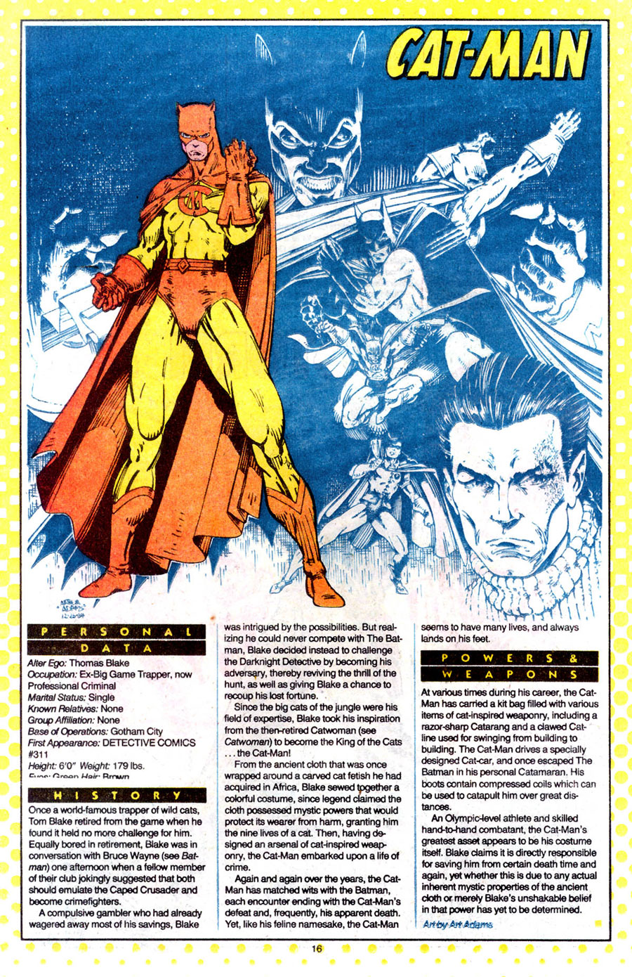 Art Adams, from Who's Who: The Definitive Guide to the DC Universe