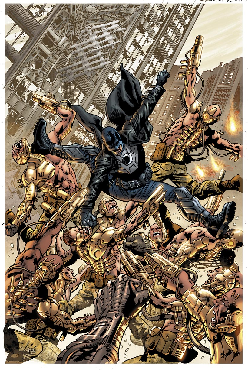 Variant cover to issue #1 by Bryan Hitch.