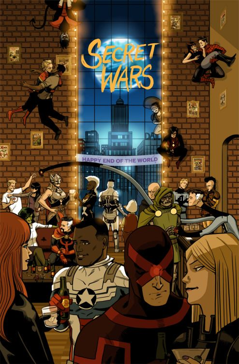 Secret Wars #1 variant cover by Chip Zdarsky
