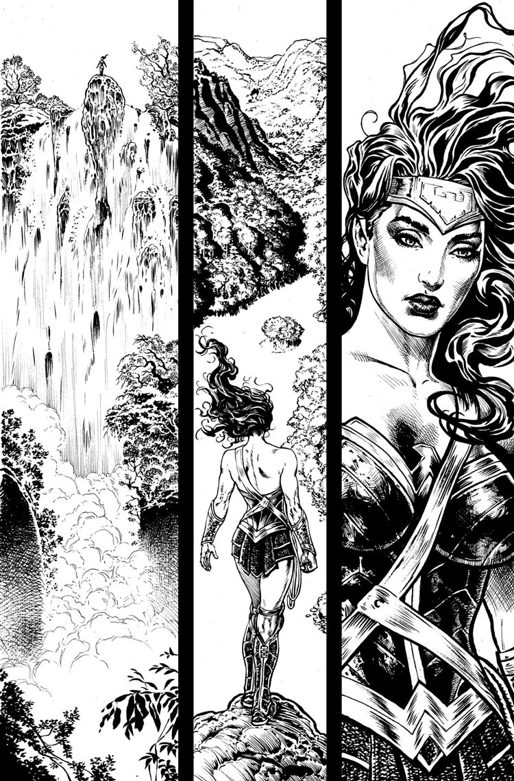 Wonder Woman #1 interior by Liam Sharp.