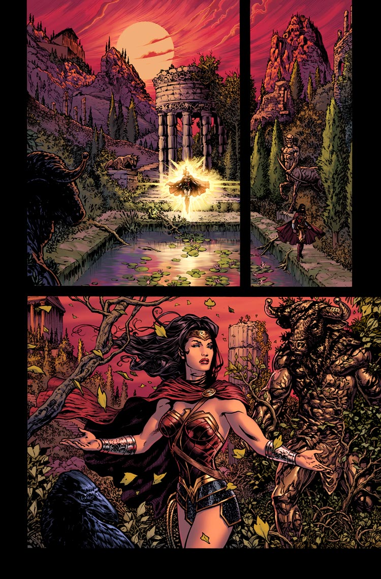 Wonder Woman: Rebirth #1 interior by Liam Sharp.