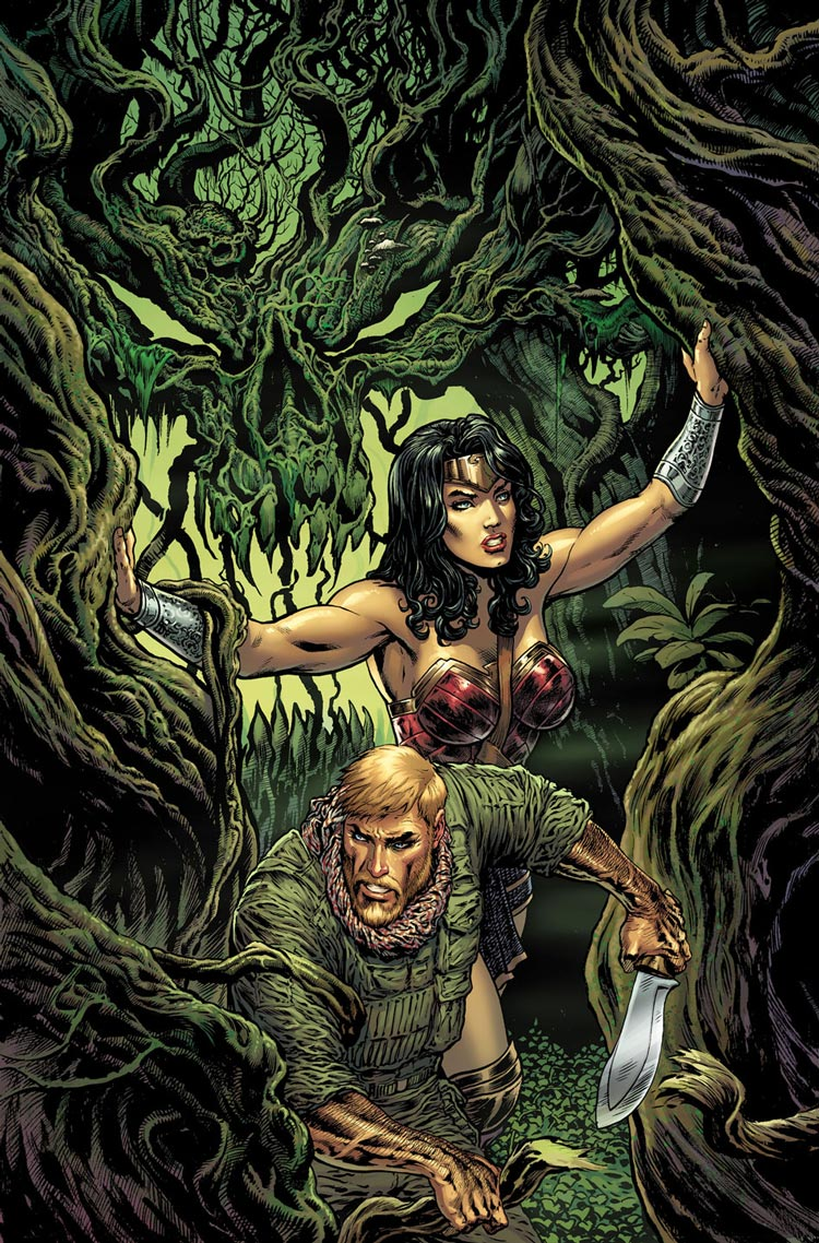Wonder Woman #5 cover by Liam Sharp.