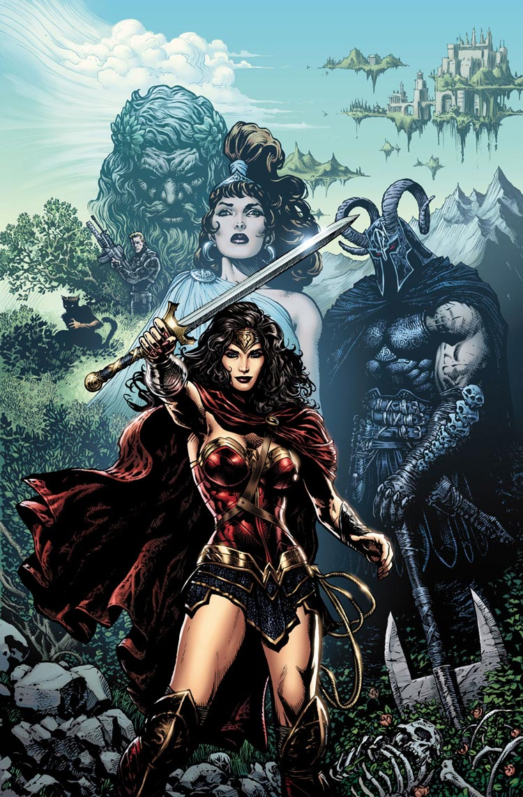 Wonder Woman #1 cover by Liam Sharp.