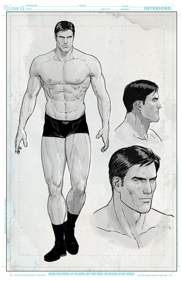 Bruce Wayne design by Mikel Janin.
