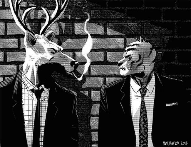 Deer Editor & Tiger Lawyer by Vic Malhotra