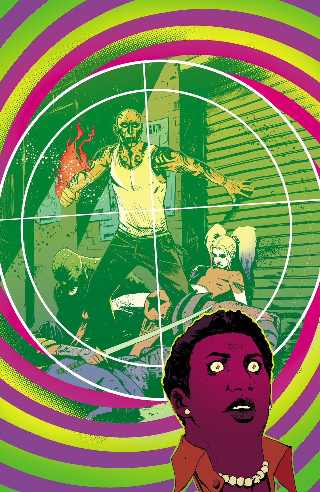 Cover of Most Wanted: El Diablo and Amanda Waller by Mike Huddleston, written by Vita Ayala and Jai Nitz
